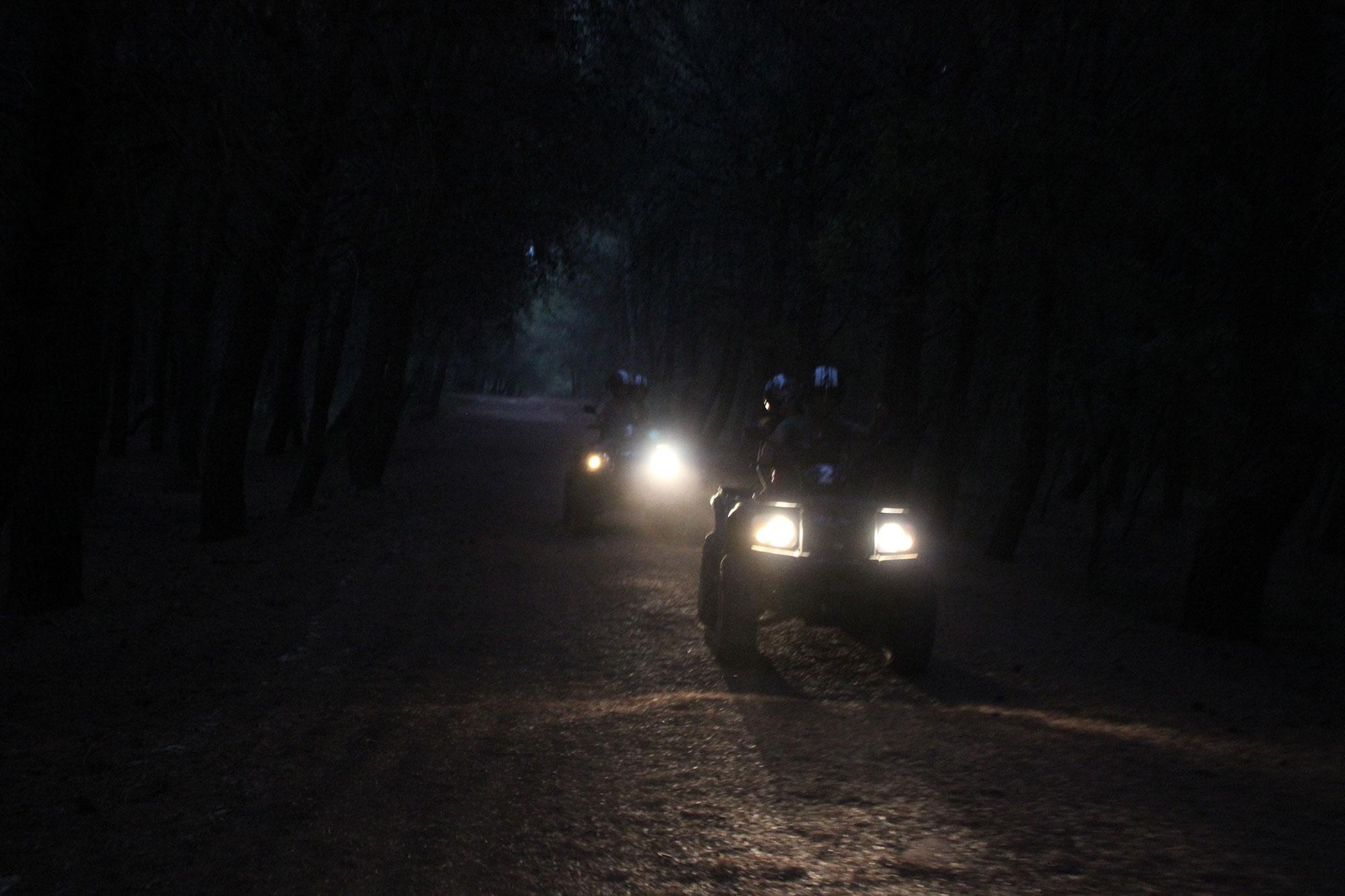 Escursione quad notturna